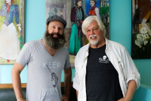 Keep Narwhals Real Founder Ian Rowan with Founder of Sea Shepherd Captain Paul Watson
